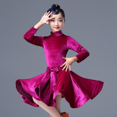 Children's Latin Dance Dress Girls' dance dress children girls' Latin professional examination competition performance clothing