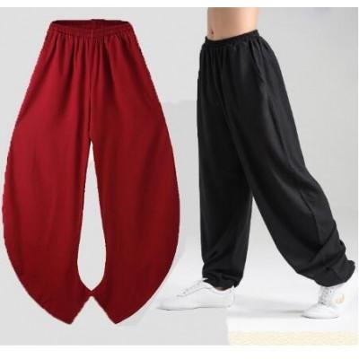 Elasticity Flax Tai Chi Kung Fu Martial Art Yoga Pants Kung Fu Pants