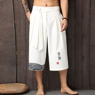 Kung fu pants traditional chinese clothing for men pants linen mens