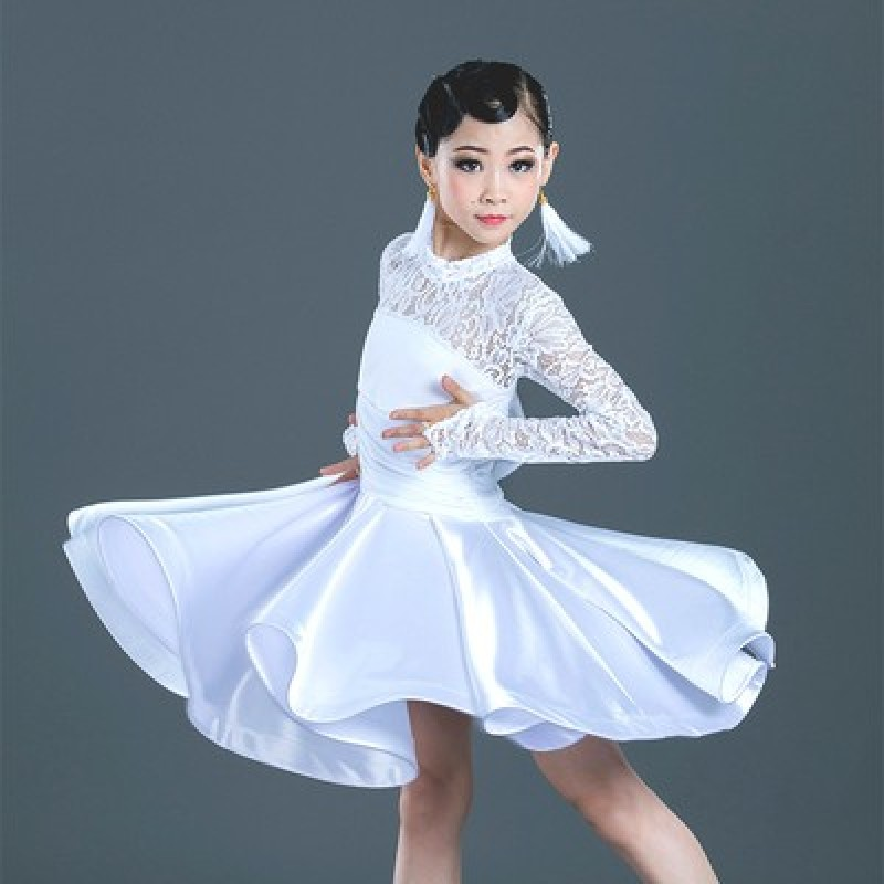 Lace Latin dress girl's training dress girl's Dance Dress Latin examination children's professional competition regulation dress