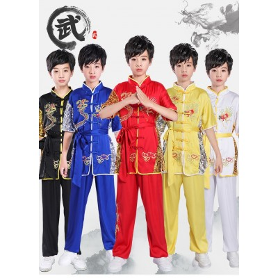 Special clothes for children's martial arts competition Taiji training clothes for primary and secondary school students Chinese style martial arts performance clothes