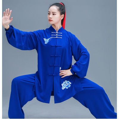 Tai Chi Clothing Embroidered Taiji Dress Pearl Cotton Martial Arts Performance Taijiquan Competition Suit for Men and Women