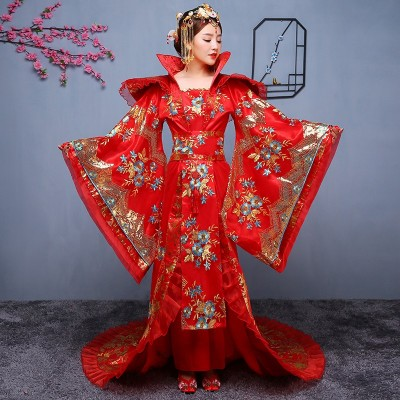 Traditional Chinese Clothing Wedding Dresses Han fu Tang Dynasties Chinese Folk Dance