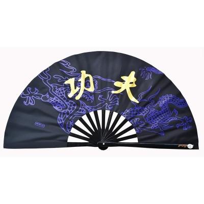 Dragon pattern kung fu fan martial arts dragon tai chi fan bamboo bone fan for women and men