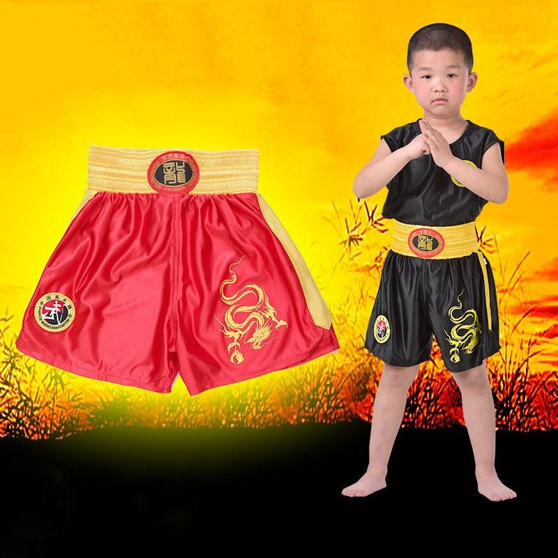 Boy girls Chinese Dragon Wushu martial art performance Clothing Sets Jiu Jitsu Boxing Suits Children tai chi Sport shaolin kung fu China t-shirt