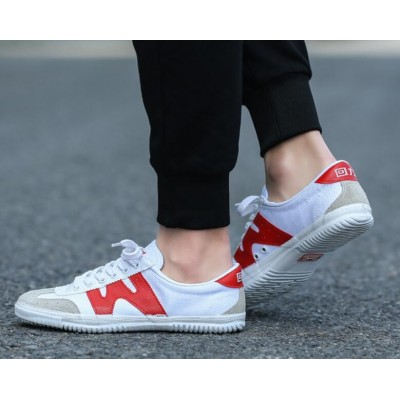 Warrior white tai chi kung fu shoes for women and men canvas morning exercises wushu martial arts sports running shoes for unisex