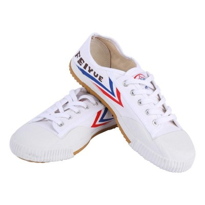 White Black Tai chi shoes for women and men canvas chinese kung fu shoes morning exercises sports wushu training shoes for unisex